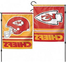 12x18 Kansas City Chiefs 2 Sided Double Sided Garden Flag Wa