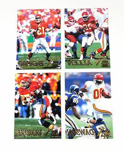 1996 Pacific Gridiron Football Kansas City Chiefs Gold Paral