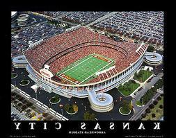 Arrowhead Stadium KANSAS CITY CHIEFS GAMEDAY AERIAL Premium