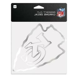 "Kansas City Chiefs 6""x6"" Chrome Auto Decal  NFL Car Emblem S"