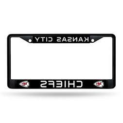 Kansas City Chiefs Authentic Metal BLACK License Plate Frame