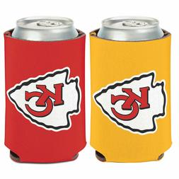 KANSAS CITY CHIEFS CAN COOLER KOOZIE TWO SIDED NFL OFFICIALL