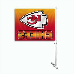 Fremont Die Inc Kansas City Chiefs Car Flag With Wall Bracke
