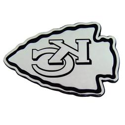 Kansas City Chiefs Die-Cut Metal Logo Auto Emblem