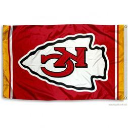 KANSAS CITY CHIEFS FLAG 3'X5' NFL TEAM LOGO BANNER: FREE SHI