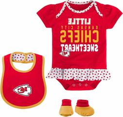 Kansas City Chiefs  NFL Team Apparel Infant Bib & Booty Set