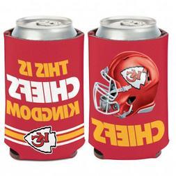 Kansas City Chiefs Kingdom NFL Can Cooler Koozie Coozie Drin