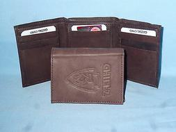 KANSAS CITY CHIEFS    Leather TriFold Wallet    NEW    dkbr