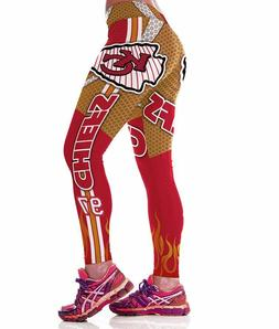 Kansas City Chiefs leggings S/M-XXL  Football Game Wear Fan