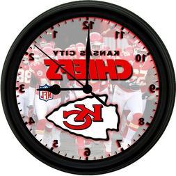 Kansas City Chiefs LOGO, 8IN. UNIQUE HOMEMADE WALL CLOCK, BA