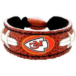 Kansas City Chiefs Logo Bracelet Wristband Genuine Football