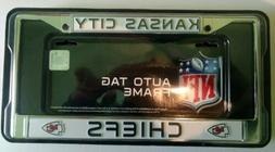 Kansas City Chiefs Metal License Plate Frame Licensed By Ric