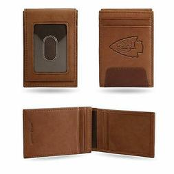 Kansas City Chiefs - NFL - Brown Leather Money Clip Front Po