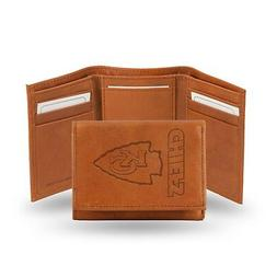 Kansas City Chiefs NFL Embossed Leather Trifold Wallet ~ New