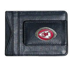 Kansas City Chiefs NFL Football Team Leather Card Holder Mon