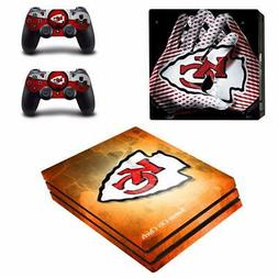 Kansas City Chiefs NFL PS4 Pro Console Skin Decals Vinyl Ski