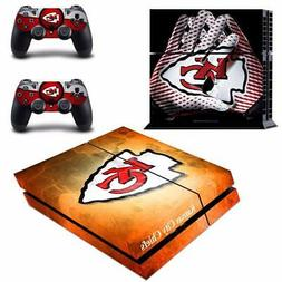 Kansas City Chiefs NFL Vinyl Skin Decals Stickers for PS4 Co