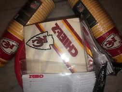 Kansas City Chiefs Party Pack, 20 Paper Cups, Plates, Napkin