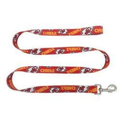 Kansas City Chiefs Pet Leash 1x60  NFL Dog Walk Collar Clip