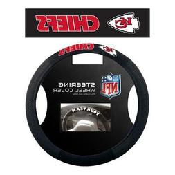 Kansas City Chiefs Poly Suede Steering Wheel Cover  NFL Car