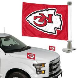 Kansas City Chiefs Set of 2 Ambassador Style Car Flags - Tru