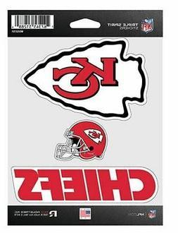 Kansas City Chiefs Stickers Die Cut Decals 3-Piece Triple Sp