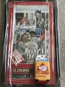 Kansas City Chiefs SUPER BOWL CHAMPS! Framed Original With C