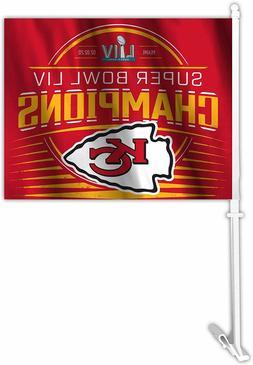 Kansas City Chiefs Super Bowl LIV Champion Car Flag Fremont