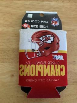 Kansas City CHIEFS Super Bowl LIV Champions 2-sided Can Cool