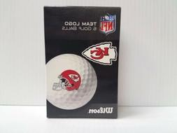 Kansas City Chiefs Wilson Team Logo Golf Balls 6-Pack NFL