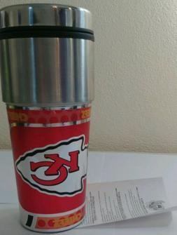 Kansas City Chiefs Travel Mug Coffee Mug New Never Used!