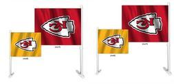 Kansas City Chiefs Set of 2 Home and Away Car Flags