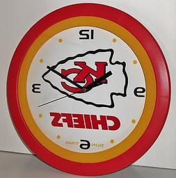 Sun Time – Kansas City Chiefs Wall Clock! New in Package!