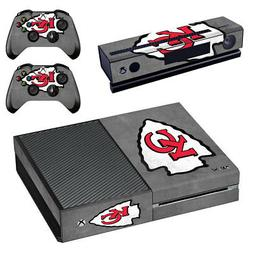 Kansas City Chiefs XBOX ONE Skin Sticker Decal Console+Kinec