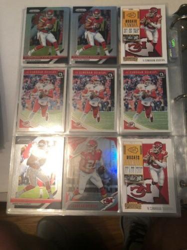 9 card lot of patrick mahomes ii