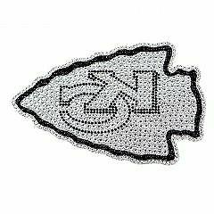 Kansas City Chiefs Diamond Bling Auto Emblem
