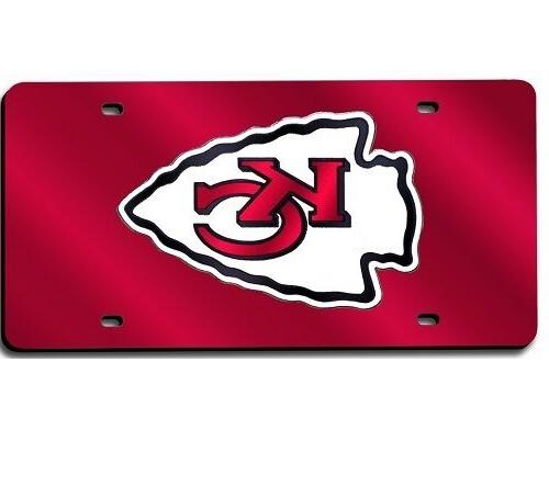 Rico Kansas City Chiefs Laser Cut Red License Plate