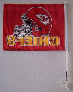 NEW 11X15 in  KANSAS CITY CHIEFS CAR FLAG GENUINE BETTER QUA