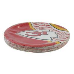 """New NFL Kansas City Chiefs 9.75"""" Disposable Paper Plates Par"""
