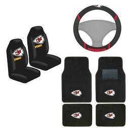New NFL Kansas City Chiefs Car Truck Seat Covers Floor Mats