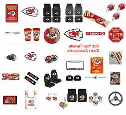 New NFL Kansas City Chiefs Pick Your Gear / Car Accessories