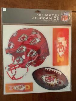 NFL Kansas City Chiefs 3D 4-Piece Multi-Sheet Car Magnet