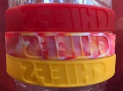 NFL Kansas City Chiefs Baller Wristbands Bands Bracelets 3 P
