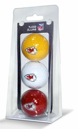 NFL Kansas City Chiefs 3-Pack Golf Balls