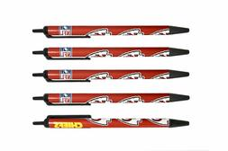 NFL Kansas City Chiefs Disposable Black Ink Click Pens, 5-Pa