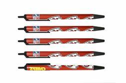 NFL Kansas City Chiefs Disposable Black Ink Click Pens, 5-Pa