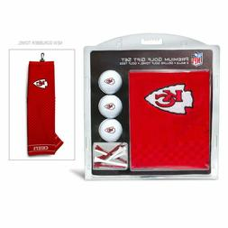 NFL Kansas City Chiefs Golf Balls, Tees & Embroidered Towel