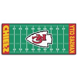FANMATS NFL Kansas City Chiefs Nylon Face Football Field Run