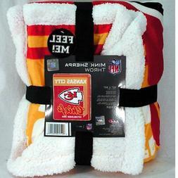 NFL Kansas City Chiefs Premium Soft Mink Sherpa Throw Blanke