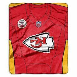 "NFL Kansas City Chiefs Royal Plush Raschel 50"" x 60"" Throw B"